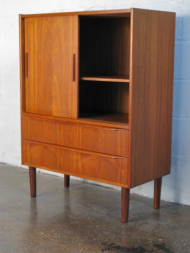 Petite Danish Modern Cabinet At 1stdibs