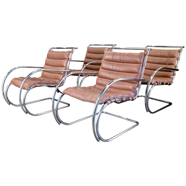 Mies Van Der Rohe MR Lounge Chairs At 1stdibs