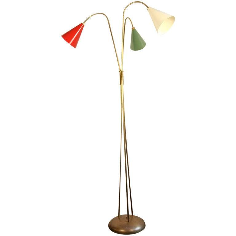 vintage italian floor lamp arteluce style at 1stdibs. Black Bedroom Furniture Sets. Home Design Ideas