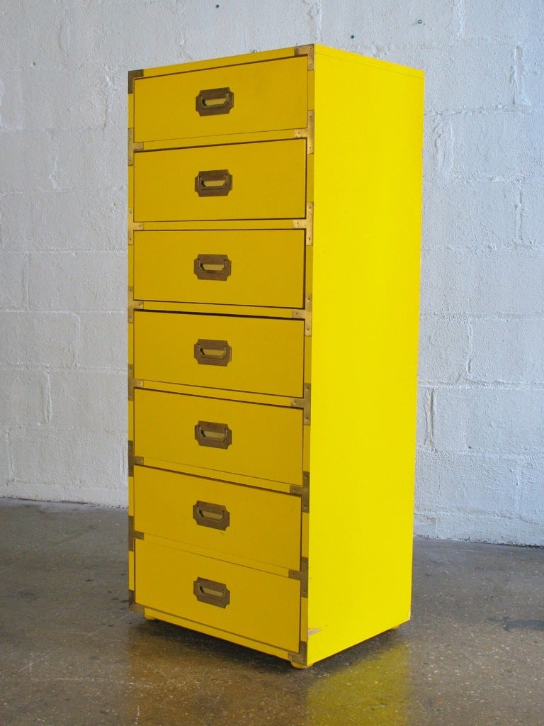 Tall Campaign Style Mid Century Dresser 2
