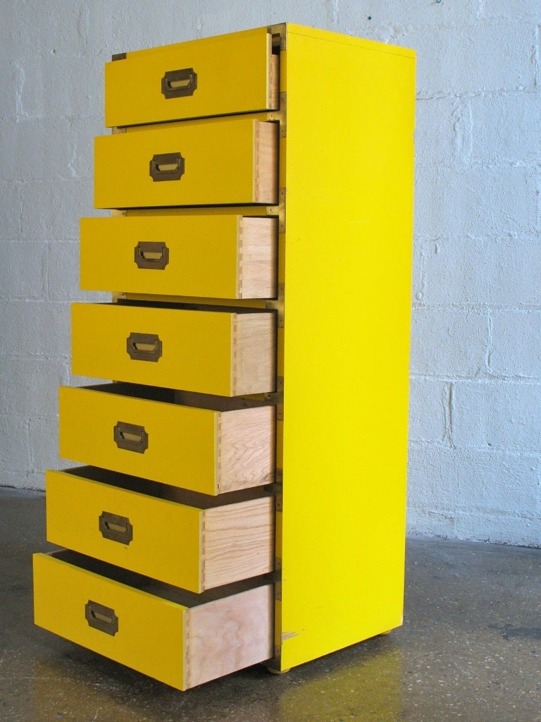 Tall Campaign-Style Mid-Century Dresser 4