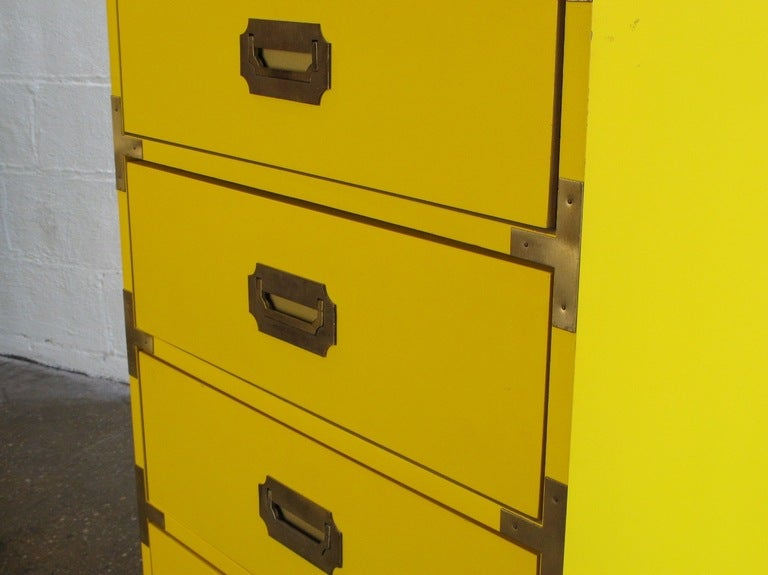 Tall Campaign-Style Mid-Century Dresser 7