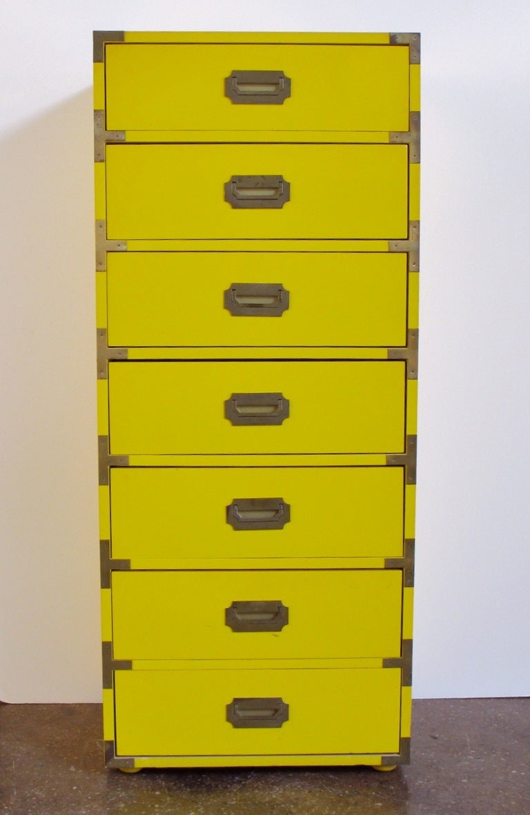 Tall Campaign-Style Mid-Century Dresser 10