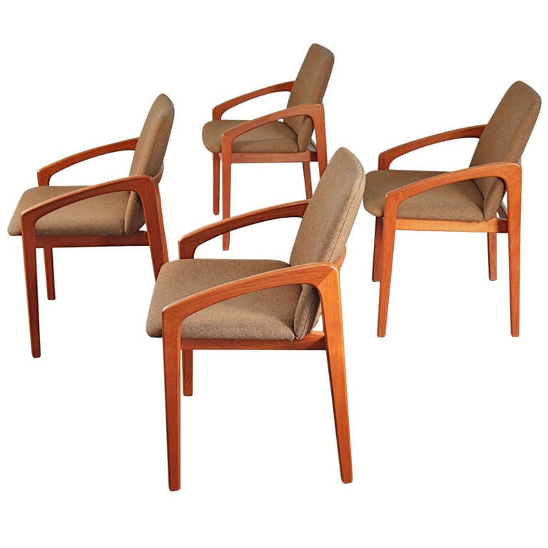 Kai Kristiansen Teak Dining Chairs At 1stdibs
