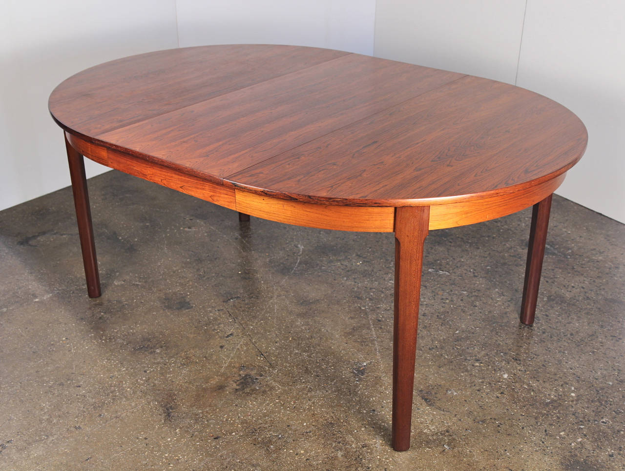 Danish Modern Rosewood Dining Table with Leaf 4