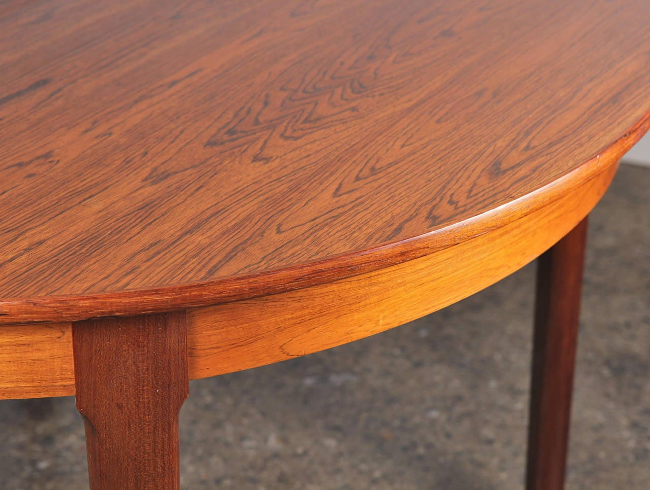 Danish Modern Rosewood Dining Table with Leaf 7
