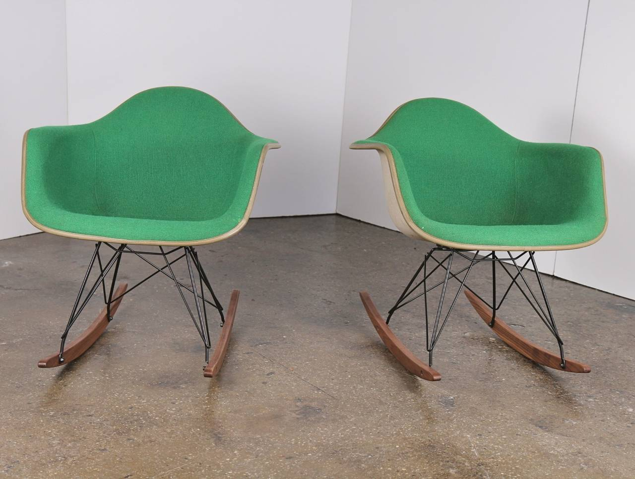 We Have Two Kelly Green Eames Shell Chairs Mounted On