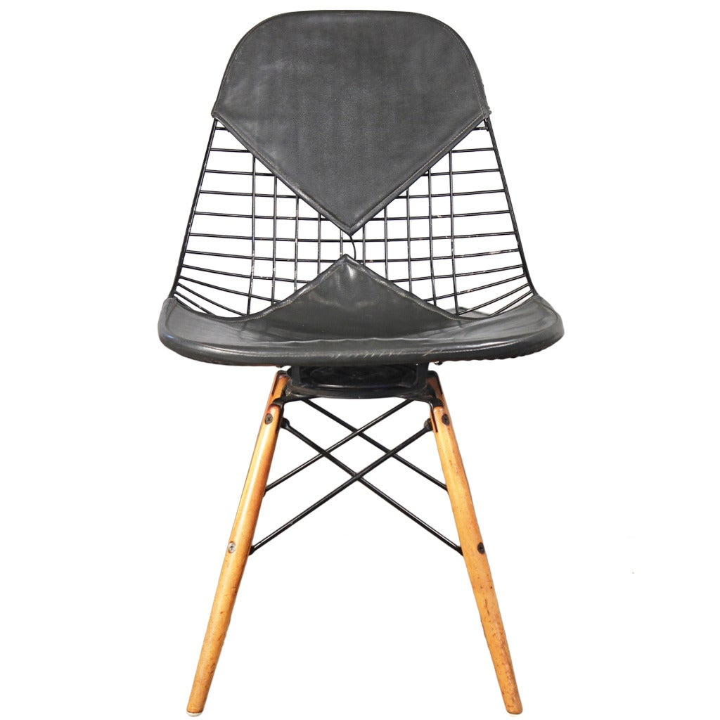 Early Eames PKW Wire Chair for Herman Miller at 1stdibs