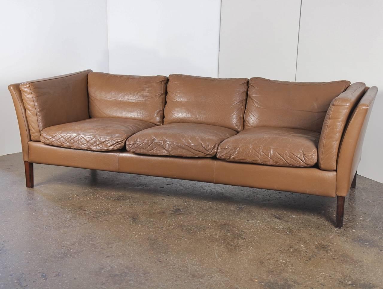 Danish Modern Leather Sofa Mid Century Modern Leather Sofa