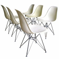 Six 1950s Eames Eiffel Shell Chairs