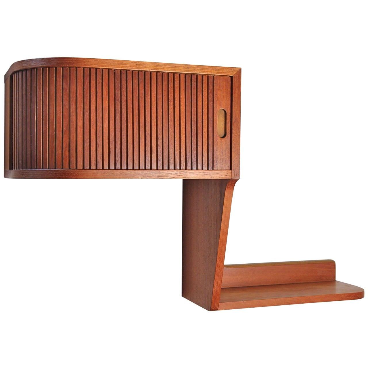danish modern teak floating shelf at 1stdibs