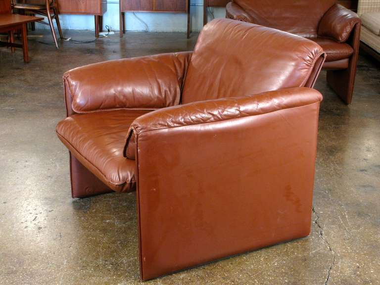 1980s Leolux Bora Bora Leather Chairs At 1stdibs