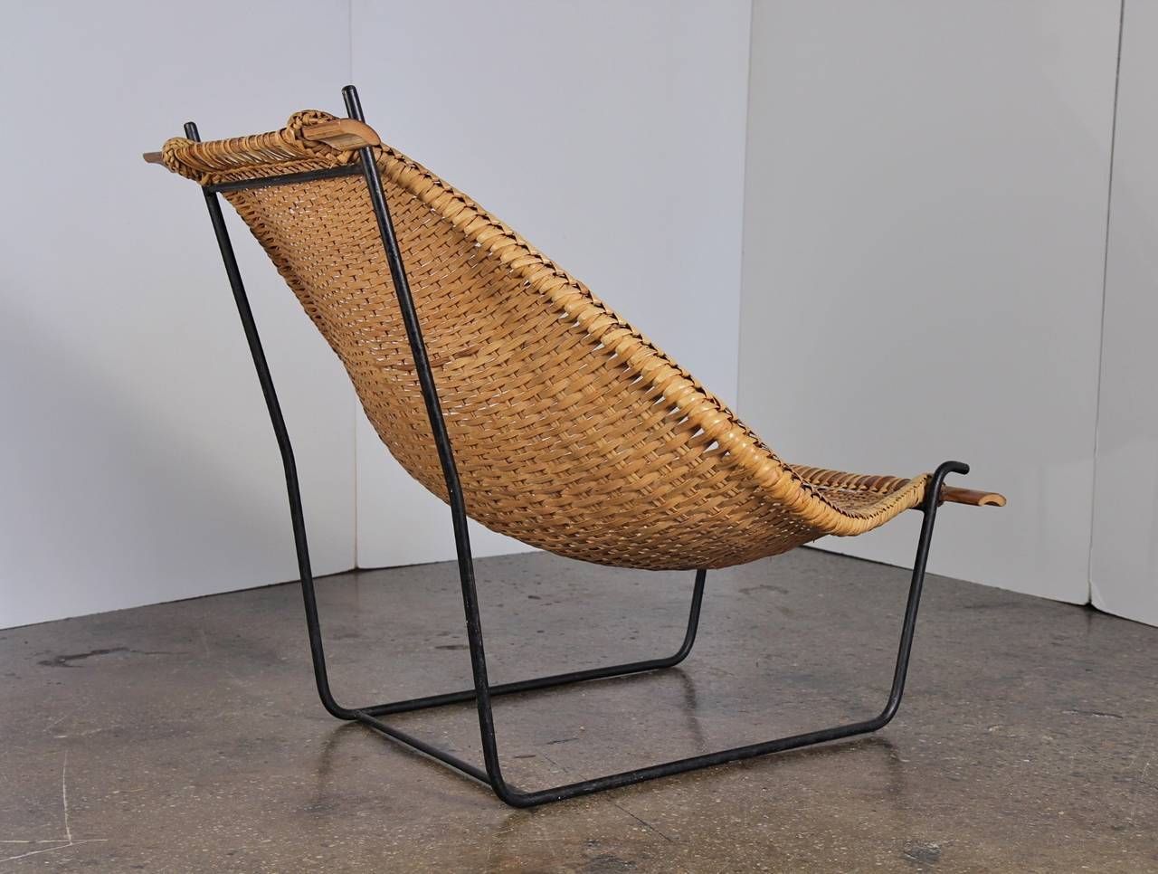 Danny Ho Fong Rattan Lounge Chair at 1stdibs