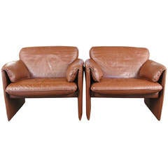 1980s Leolux Bora Bora Leather Chairs