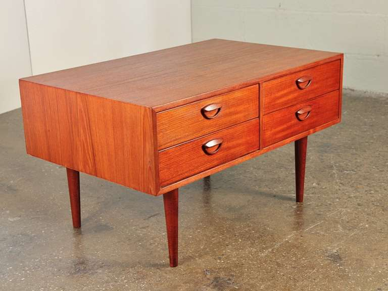 1960 S Low Chest Of Drawers Or Tv Stand By Kai Kristiansen At 1stdibs