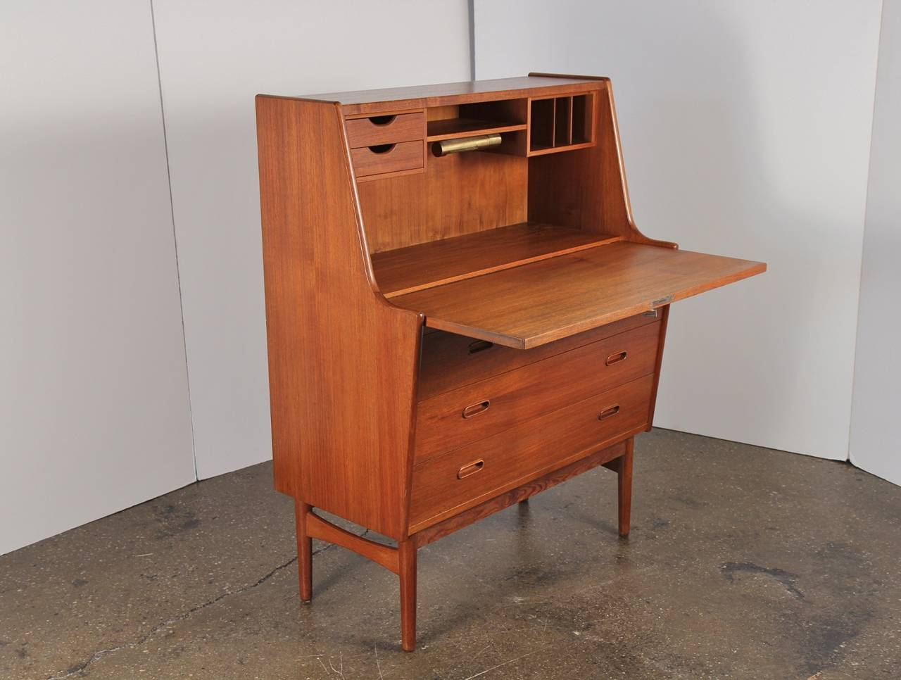 Danish Modern Teak Secretary Desk at 1stdibs