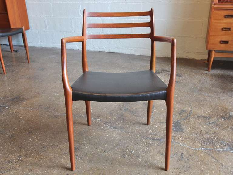 1960s Sculptural Teak Dining Chairs Are The Epitome Of Danish Modern  Craftsmanship. Designed By Niels
