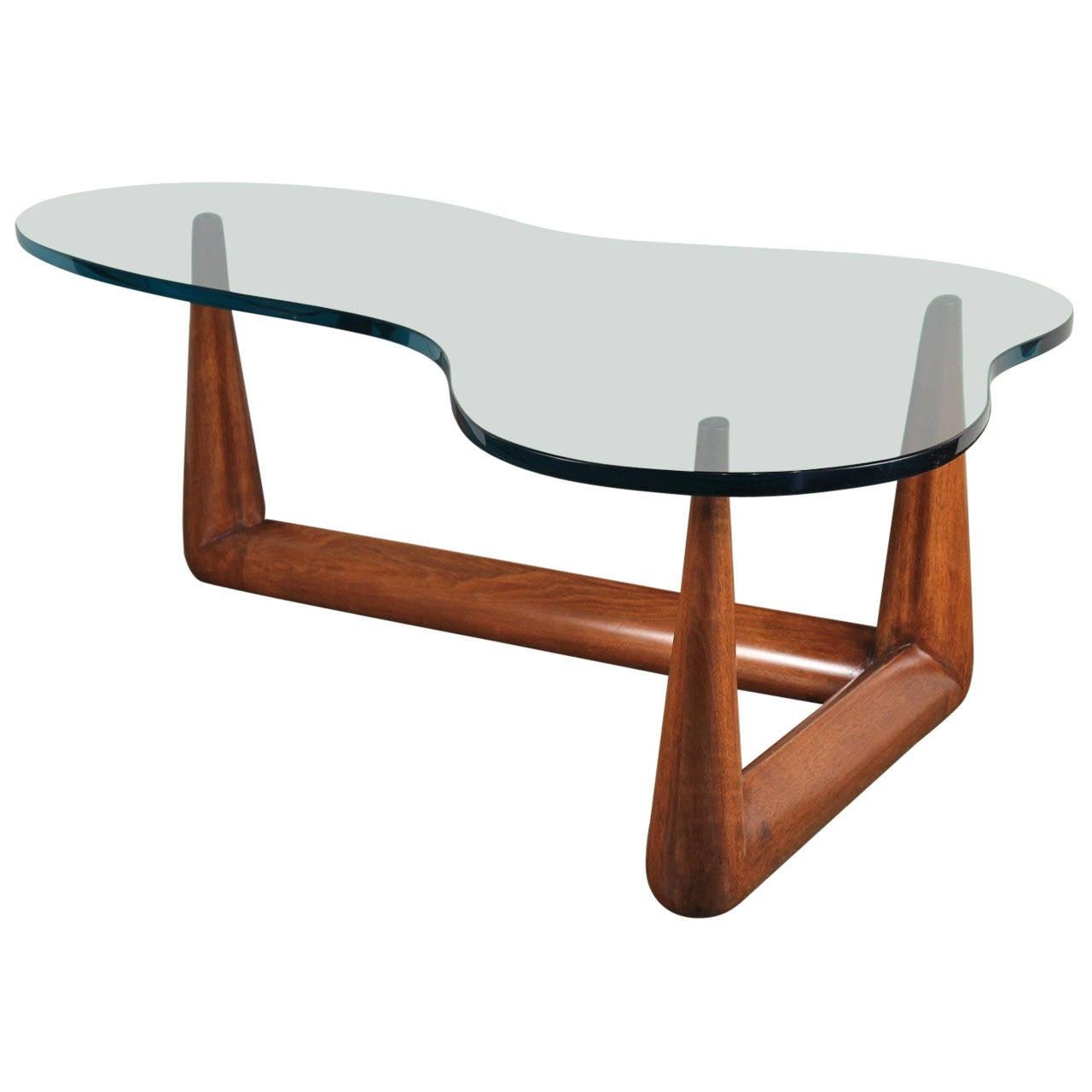 T. H. Robsjohn-Gibbings Biomorphic Glass Coffee Table