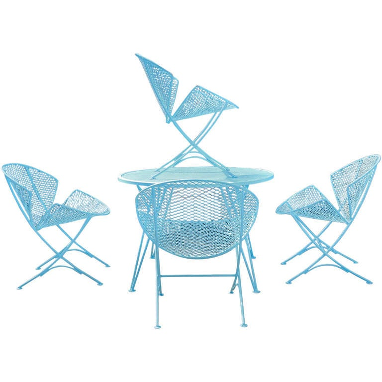 1950s Salterini Patio Table And Chairs 1