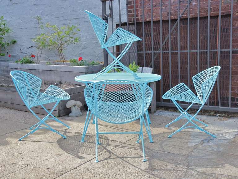 1950s Salterini Patio Table And Chairs 2