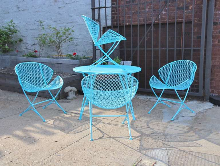 1950s Salterini Patio Table And Chairs At 1stdibs
