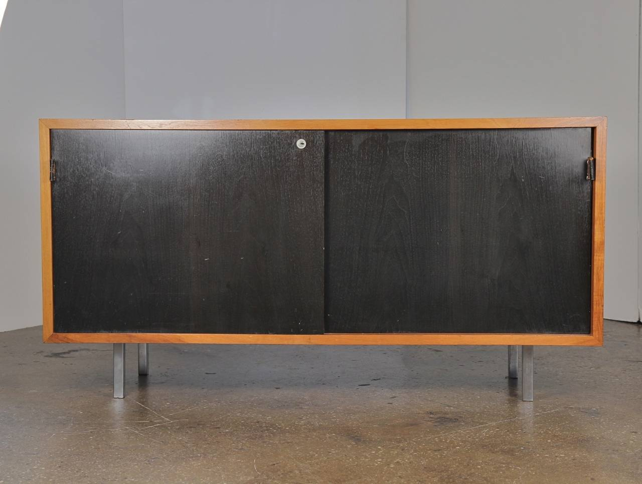 small s florence knoll walnut credenza cabinet at stdibs - small s florence knoll walnut credenza cabinet