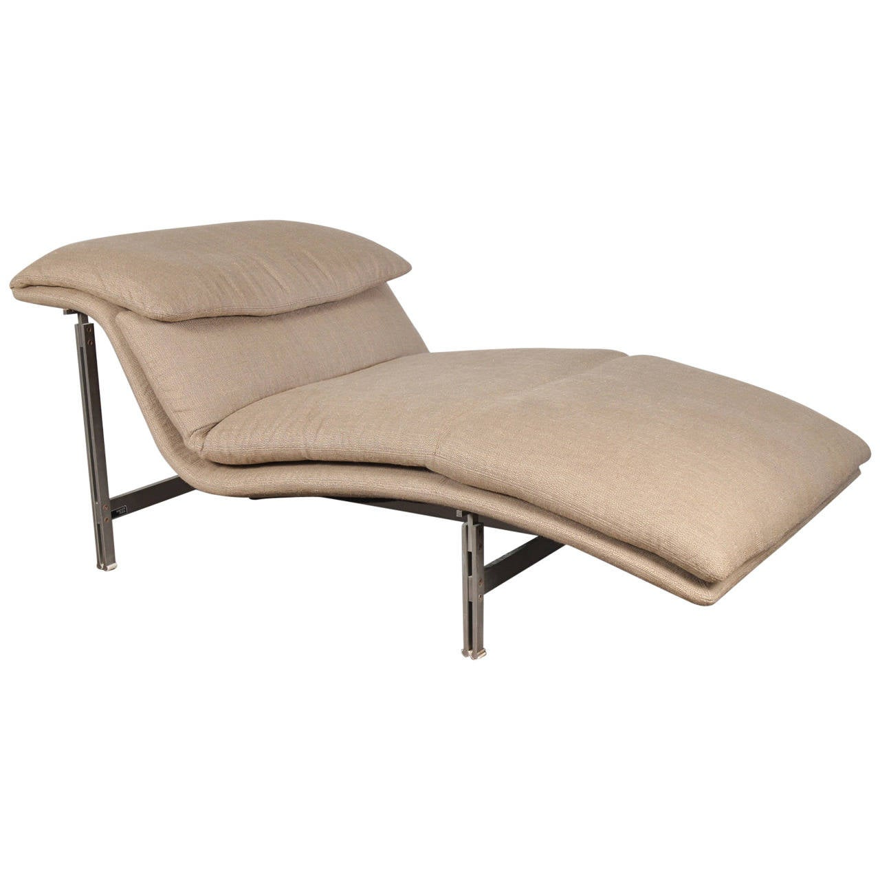 Saporiti wave chaise longue at 1stdibs for Chaise longue furniture