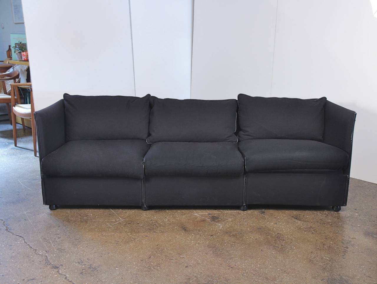 mario bellini sofa for cassina at 1stdibs. Black Bedroom Furniture Sets. Home Design Ideas