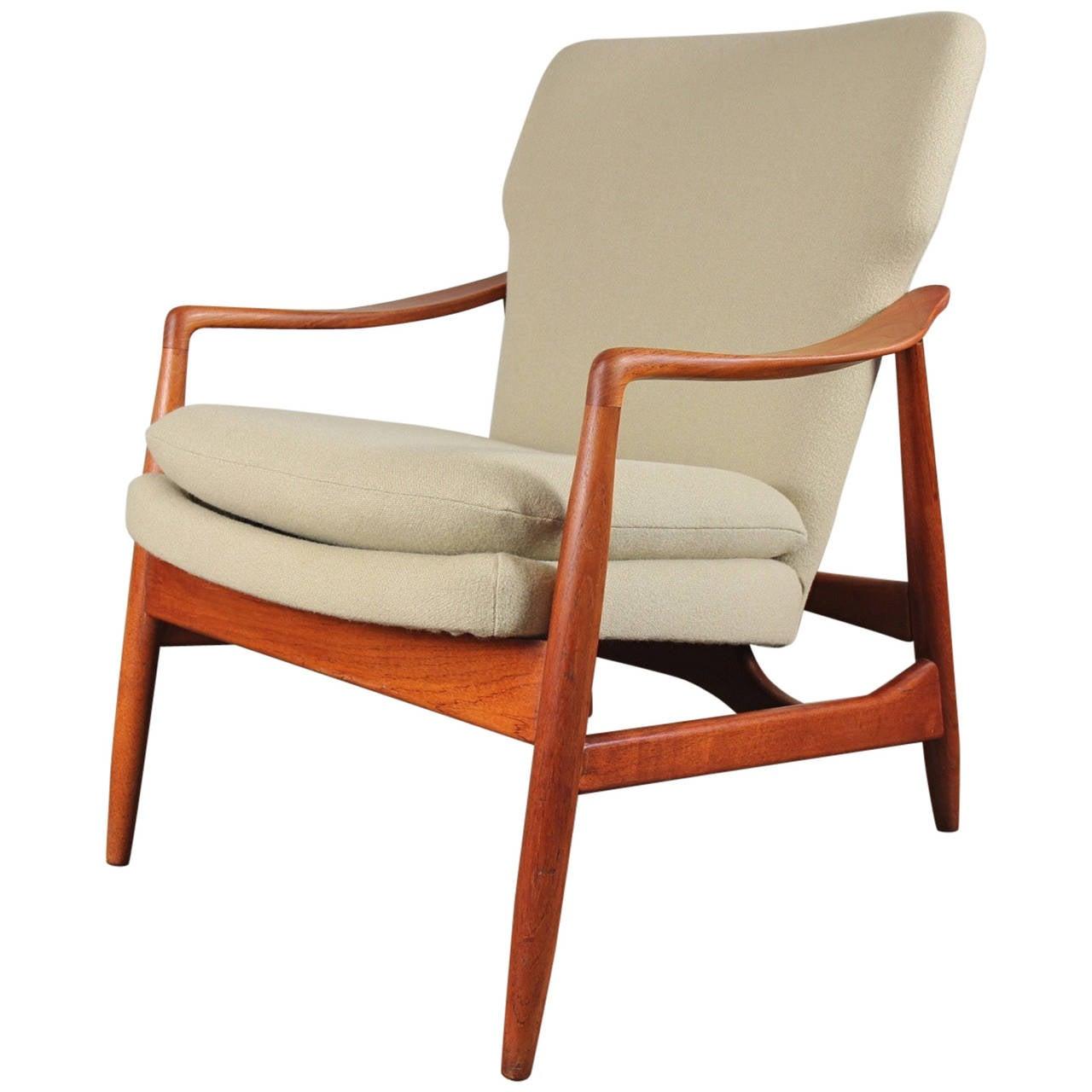 Fine Danish Modern Teak Armchair For
