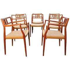 Set of Eight Niels O. Moller for J.L. Moller Chairs, Model 79 and 64