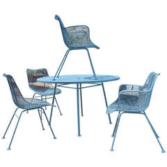 Sculptura Patio Table and Chairs by Russell Woodard