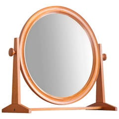Large Teak Mirror by Pedersen & Hansen