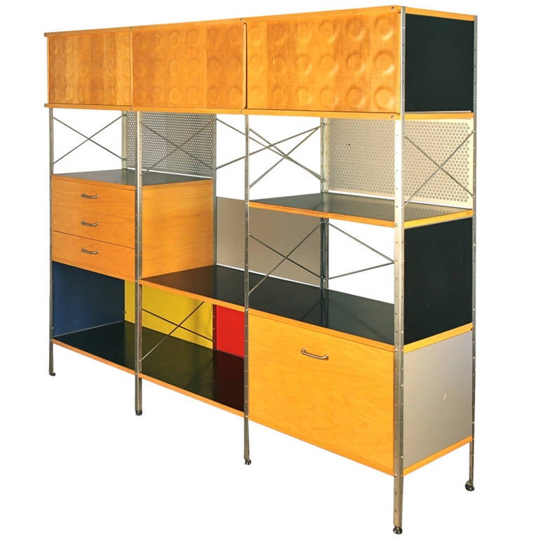 Charmant Vintage Eames Style Storage Unit By Modernica For Herman Miller For Sale