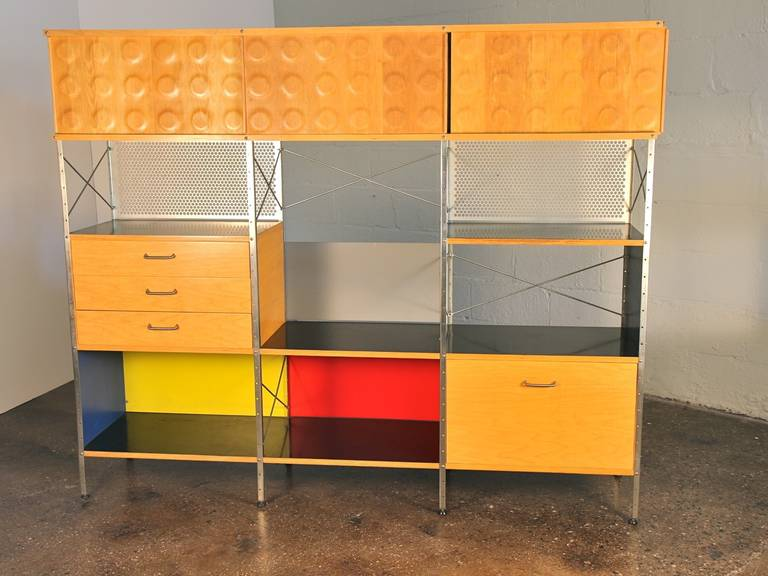 Mid Century Modern Vintage Eames Style Storage Unit By Modernica For Herman Miller