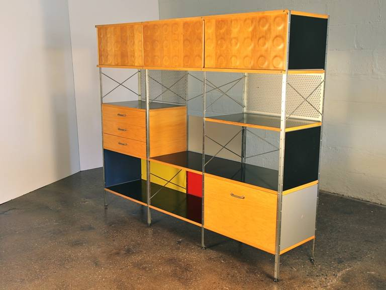 Vintage Eames Style Storage Unit By Modernica For Herman Miller 2