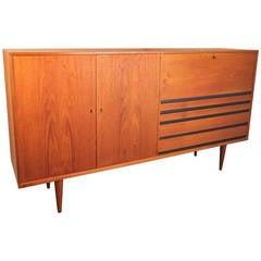 Large 1960s Danish Modern Teak Sideboard