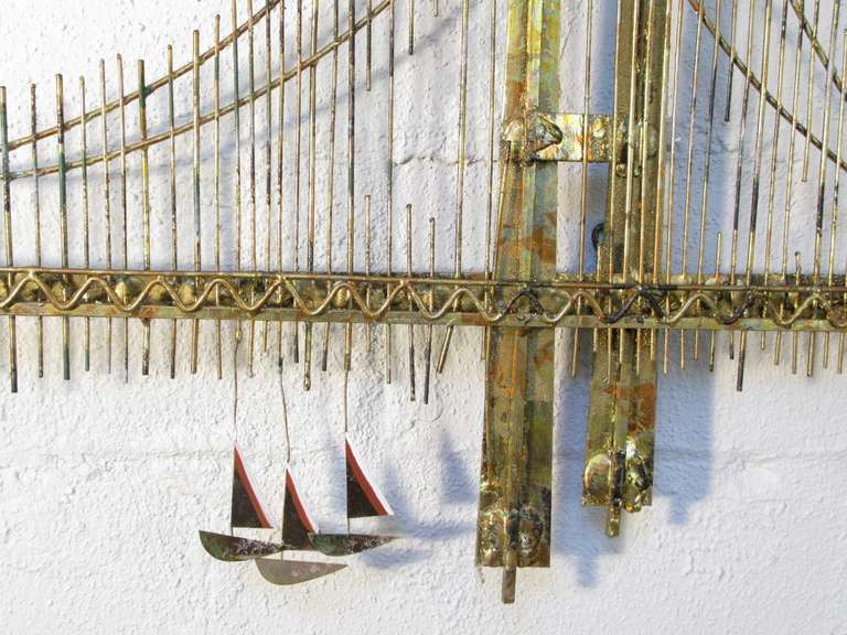 Pair Of Curtis Jer Golden Gate Bridge Wall Sculptures At 1stdibs