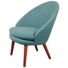 Danish Modern Easy Chair by Ejvind Johansson