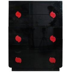 Modernage Black Lacquer Dresser