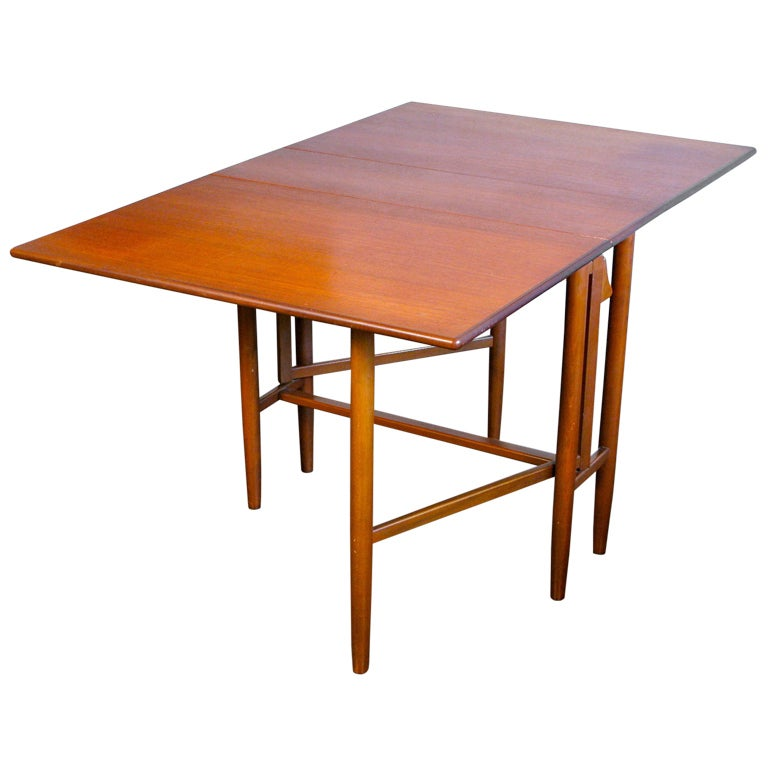 Danish modern drop leaf table at 1stdibs - Modern drop leaf tables small spaces collection ...