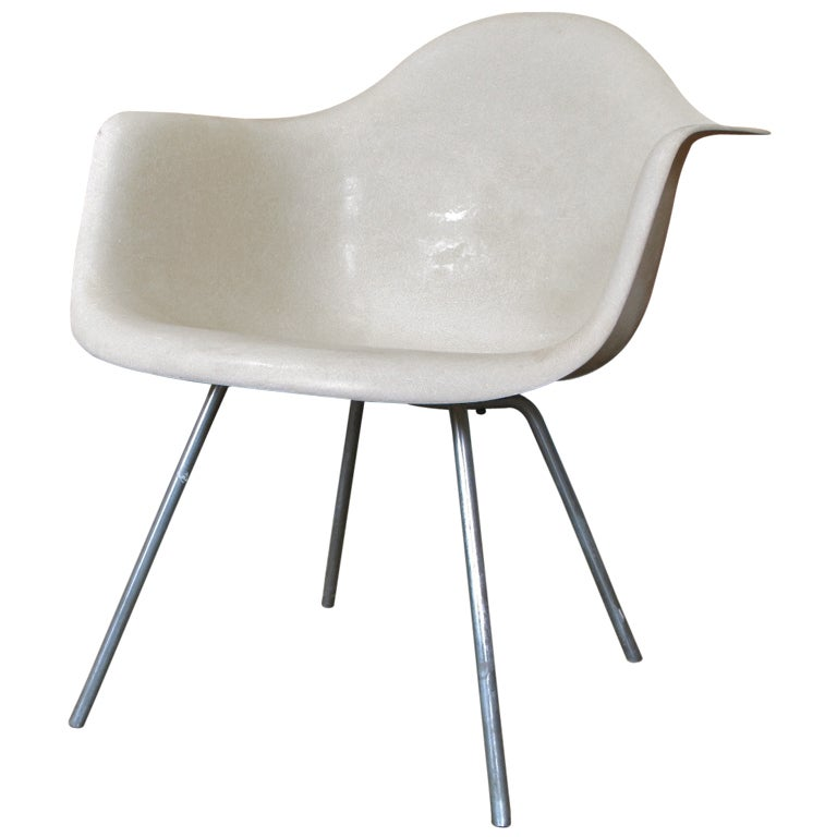 Rare 1953 Parchment Eames Shell Chair At 1stdibs