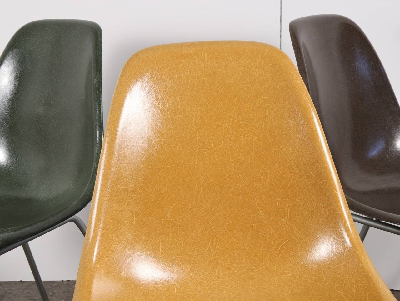 Original Eames Fiberglass Shell Chairs by Herman Miller In Good Condition For Sale In Brooklyn, NY