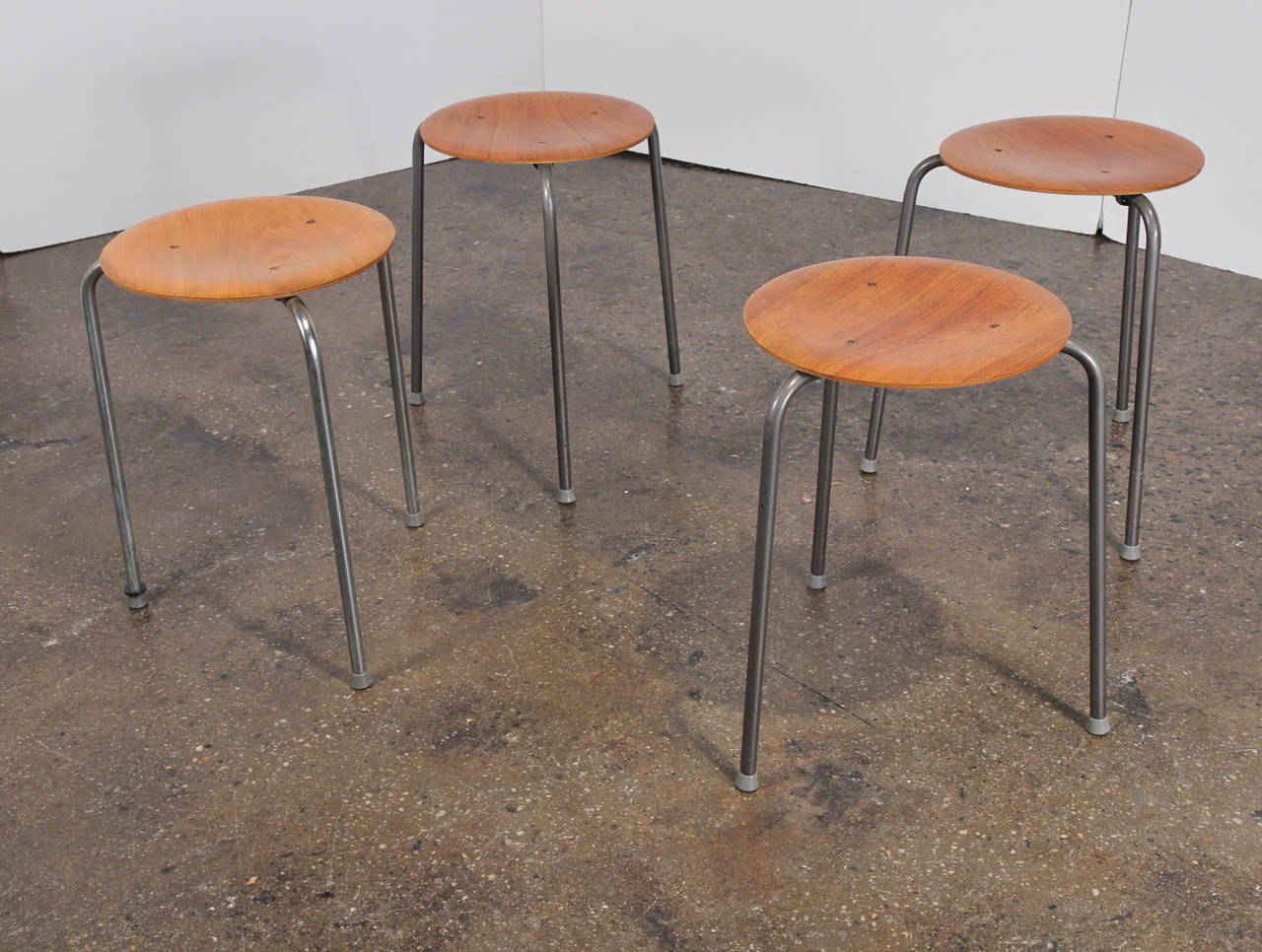 Arne Jacobsen Dot Stools At 1stdibs