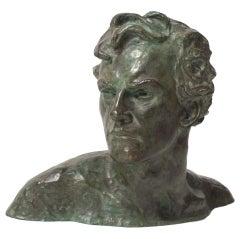 20th c. Bust of man Art Decó