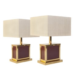 70's Pair Of J. C. Mahey Style Lamps
