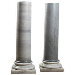 19th Century Marble Column Pedestals