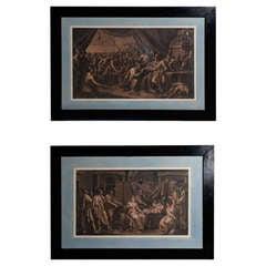 19th Century Pair of Scenes Julios Caesar's Life