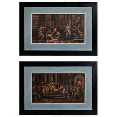 19th Century Pair of Scenes Julios Caesar's Life