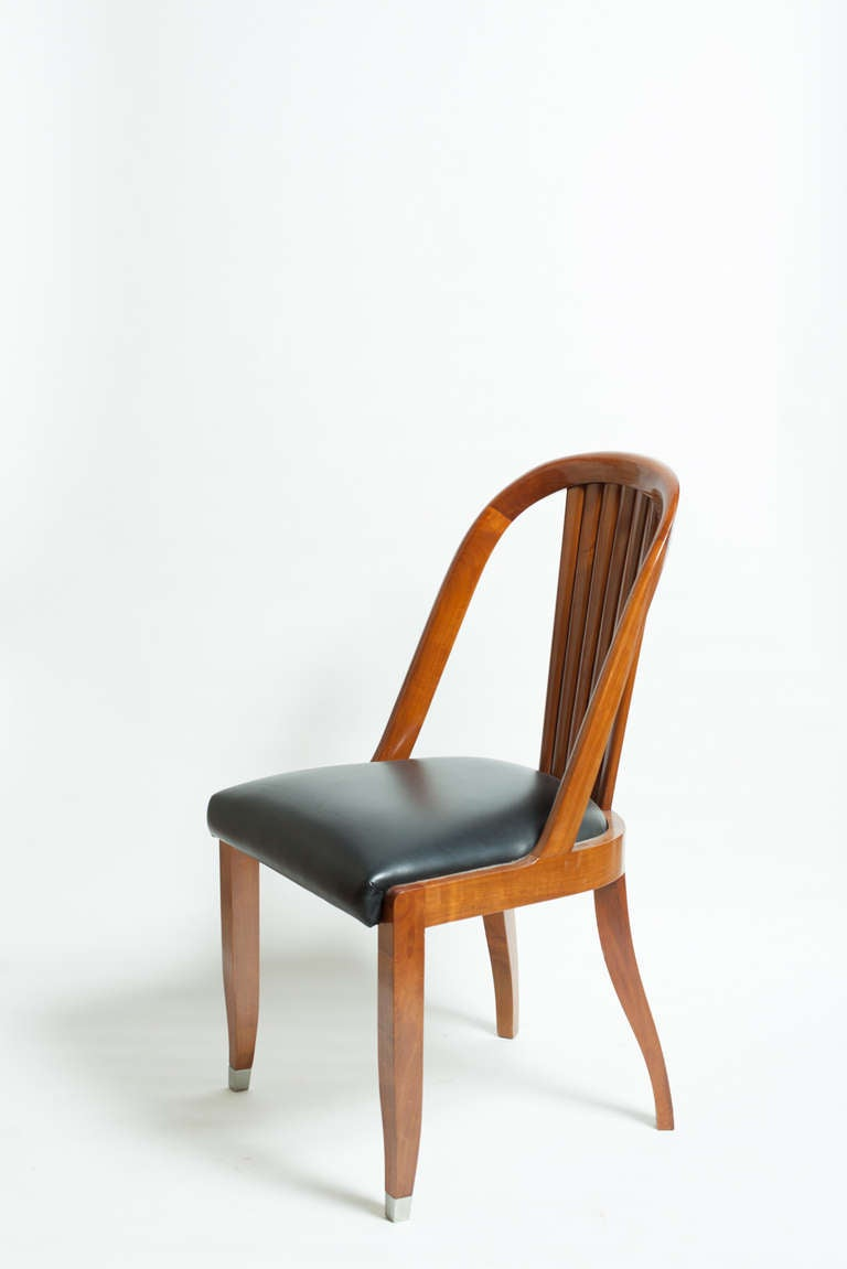 Art deco style dining chairs for sale at 1stdibs for Dining room paintings sale