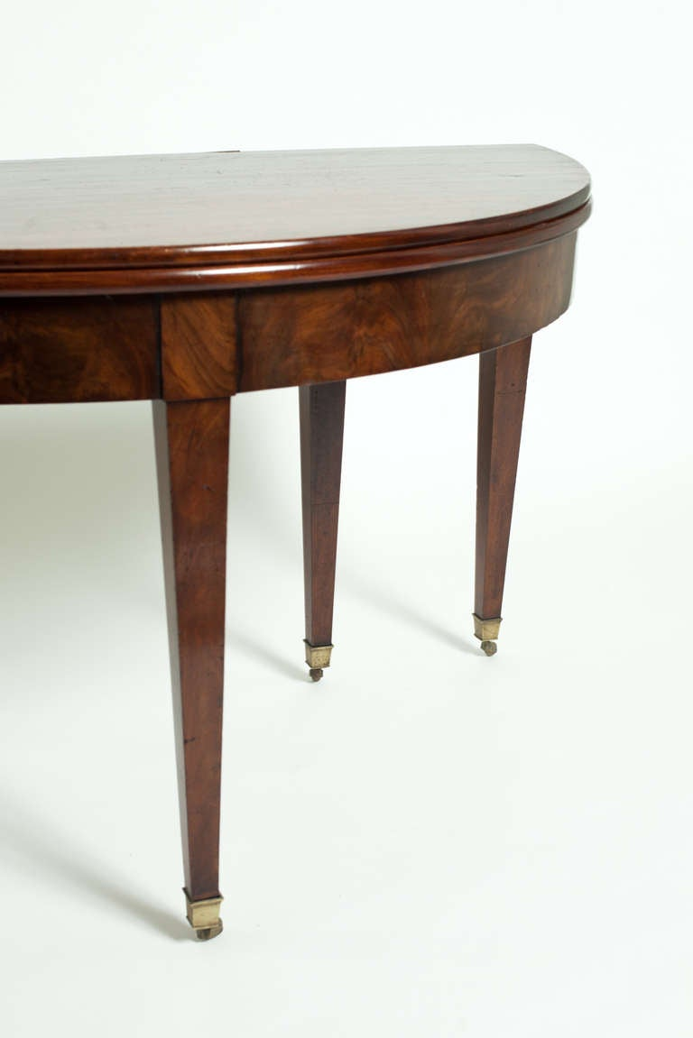 19th c demi lune dining room table for sale at 1stdibs. Black Bedroom Furniture Sets. Home Design Ideas